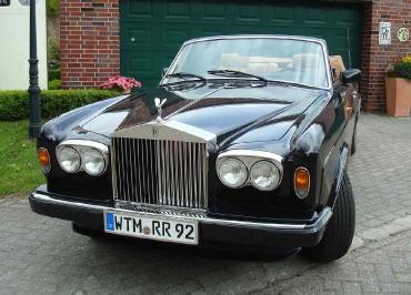 Rolls-Royce Corniche Classic Car mit CarSign Kennzeichenhalter