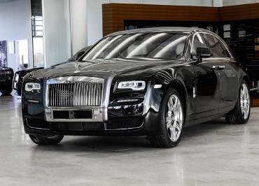 Rolls-Royce Kennzeichenhalter Edelstahl Chrom mit Frontbiegung