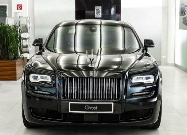 Rolls-Royce Ghost Kennzeichenhalterung in Edelstahl Chrom und Frontbiegung