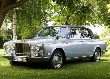 Rolls-Royce Oldtimer/Youngtimer mit CarSign Kennzeichenhalter