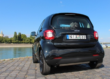 smart Kennzeichenhalterung Edelstahl schwarz-glanz von CarSign