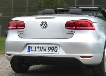 VW Eos Volkswagen Kennzeichenhalter Edelstahl Chrom