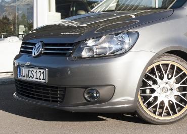 VW Caddy Volkswagen Kennzeichenhalter Edelstahl Chrom