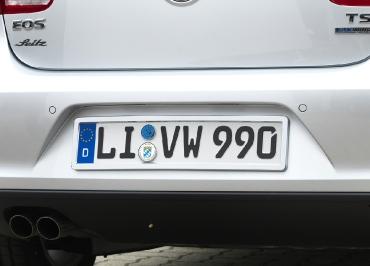 VW Volkswagen Kennzeichenhalter Heck in Edelstahl verchromt