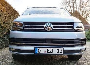 VW T6 California Kennzeichenhalter schwarz-glanz